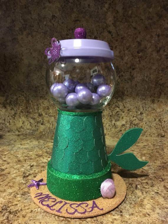Mermaid centerpiece candy jar
