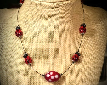girl ladybug jewelry etsy