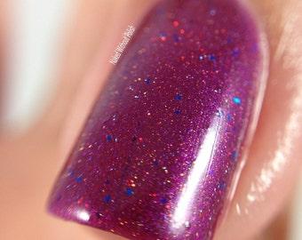 Big Burgundy, Holographic Nail polish, vegan cosmetics 7 ml, fall makeup