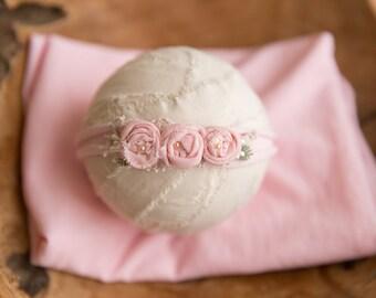 Newborn Wrap and Headband Set