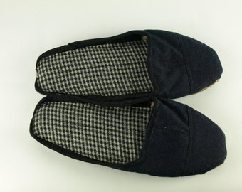 Tweed & Cotton Scrap Slippers Portuguese Chinelos de Trapos size EU 41-43