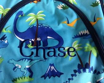 Canvas Dinosaur Backpack