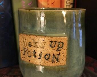 Wake up potion speckled mug