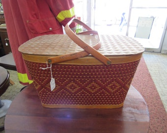 Picnic Basket Red Man 1950's