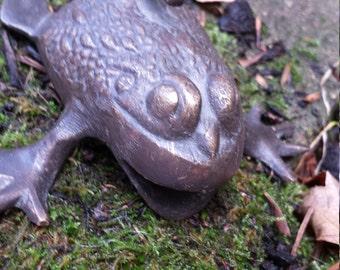 Vintage brass frog