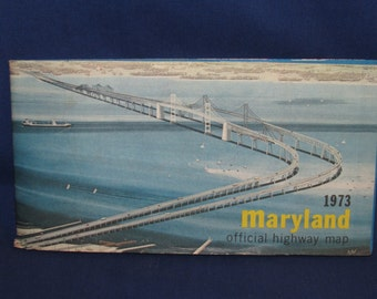 MARYLAND Official Highway Map 1973