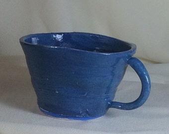Blue wavy teacup.