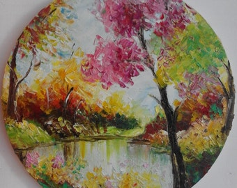 In my Fantasy,30/30/2sm(12/12 in) Hand painted  landscape,Oil Painting for sale