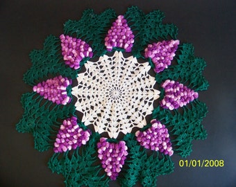 Doily Purple Grapes with Green a