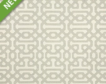 SUNBRELLA Indoor / Outdoor Fabric By The Yard ~ Fretwork Pewter