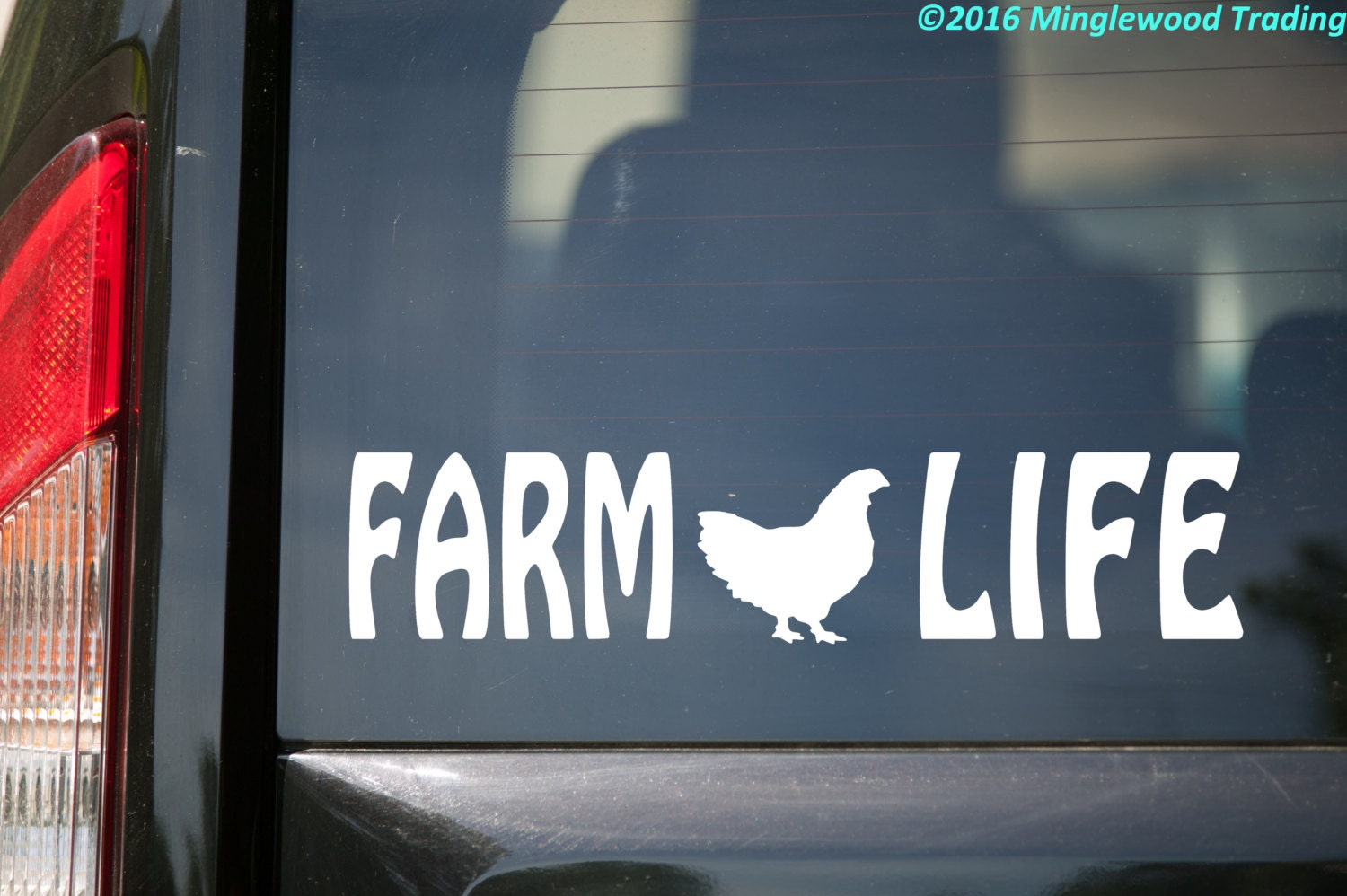 Farm Life Vinyl Decal Sticker Chicken Country Living Farming