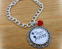 Mental Health Symbol Semi Colon Bracelet