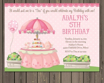Girls tea party invitations – Etsy