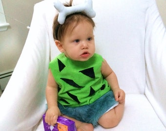 Pebbles Costume made to order sizes 12 months, 2T, 3T, 4T