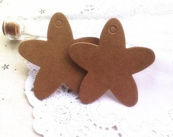 Set of 20 Kraft Gift Tags-Hang Tags-Price Tags-Blank-Craft Punch kraft card craft card bake sale tags