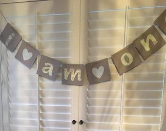First birthday banner I am one