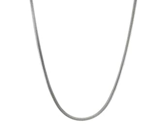 30 inch Stainless Steel Snake Chain Necklace  ONLY- Adjustable