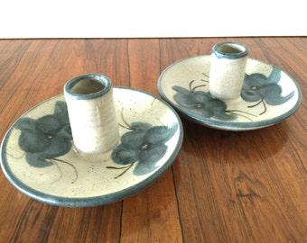 Art Pottery Candleholders