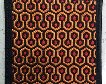 "The Shining ""carpet"" patch 70's horror"