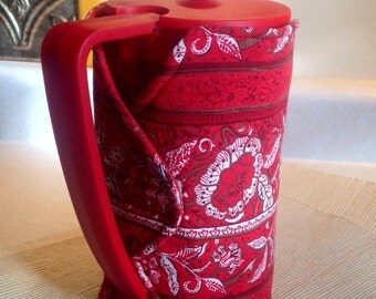 10 % OFF! Red French Press Coffee Cozy | Coffee Cozy (Ready to Ship)