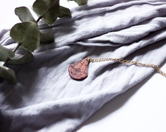 Laser Etched Wooden Necklace