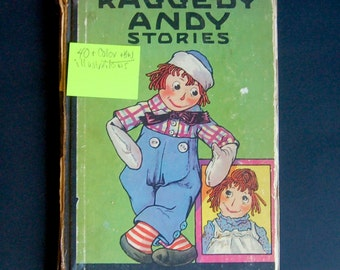 Vintage Raggedy Andy Stories, Children's Book, Loaded with Dozens of the Older Johnny Gruelle Illustrations