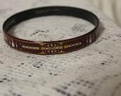 Vintage Enamel Designer Bangle Bracelet Art Deco