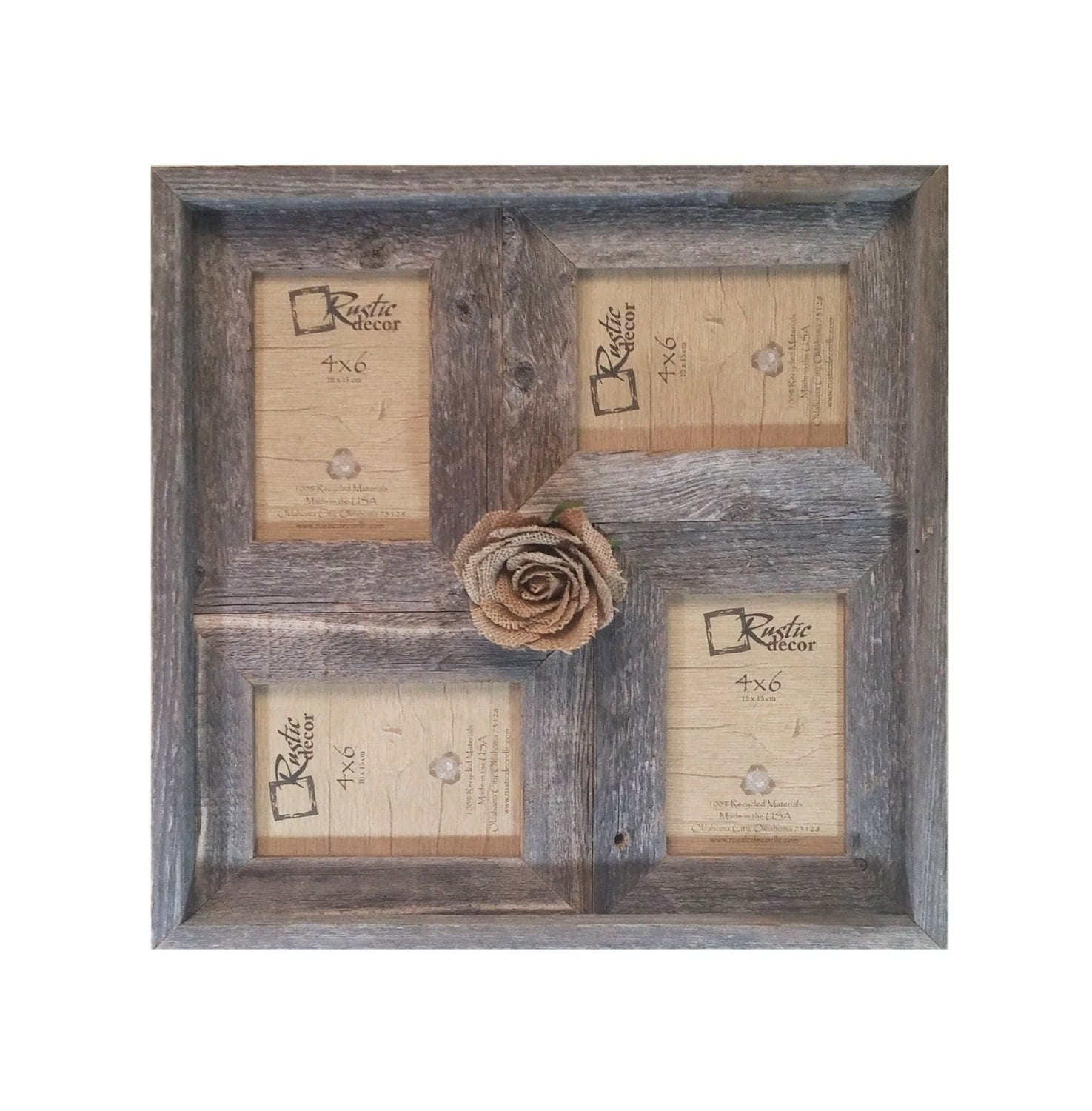 4x6 2 Wide Multi Direction Rustic Barn Wood Collage