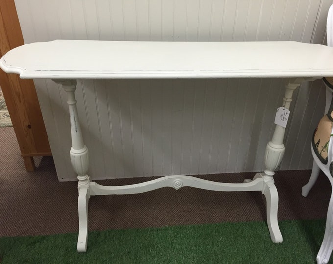 Vintage Sofa Table. Painted white