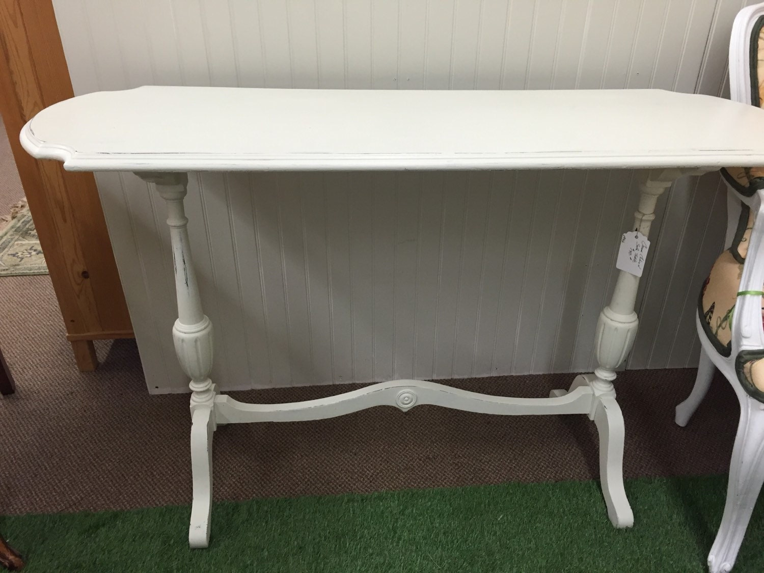 Vintage sofa table painted white geotapseo Image collections