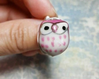 Owl Wire Wrapped Ring, Owl Wire Ring, OWL Ring, Silver Wire Wrapped Ring, Silver Wire Ring, Owl Jewelry, BoHo Ring, BoHo Jewelry, SilverRing