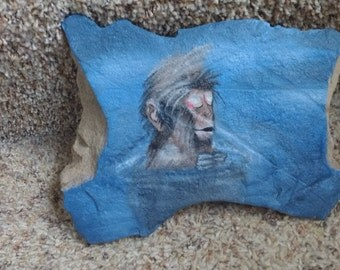 Hand Painted Japanese Macaque