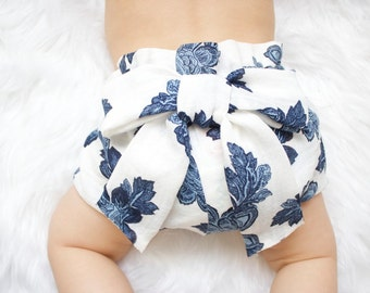 Baby Bloomers- Blue Floral