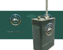 Chevy Impala 1965 66 Tribute Gas Can with spout multiple colors
