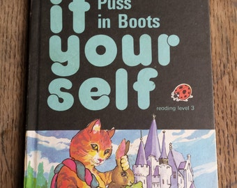 Read it yourself, vintage ladybird book, read it yourself puss in boots, reading level 3, ladybird series 777, puss in boots, learn to read