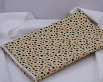 OOAK #719 - 34 x 44 -  Black and Orange Halloween Dots Fabric