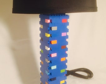 LEGO® Lamp - Blue & Multicolored Rainbow