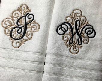 Monogrammed Luxury Bath Towel Set, Hand Towels, Wedding Gift, Bridal Shower, Housewarming Gift