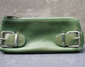 Vintage BANANA REPUBLIC Green Genuine Leather Clutch