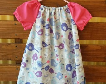 Girls Peasant Style Dress. Size 2. Sweet Birds.