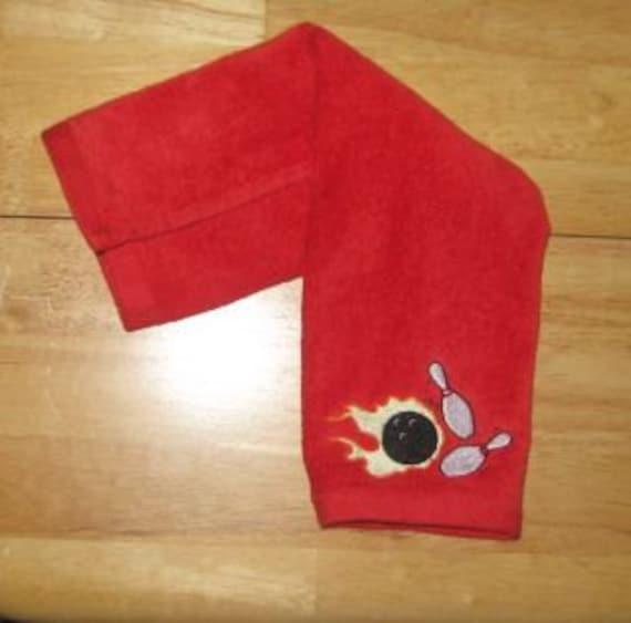 Custom Embroidered Bowling Towel Sports Towel Bowling Towel