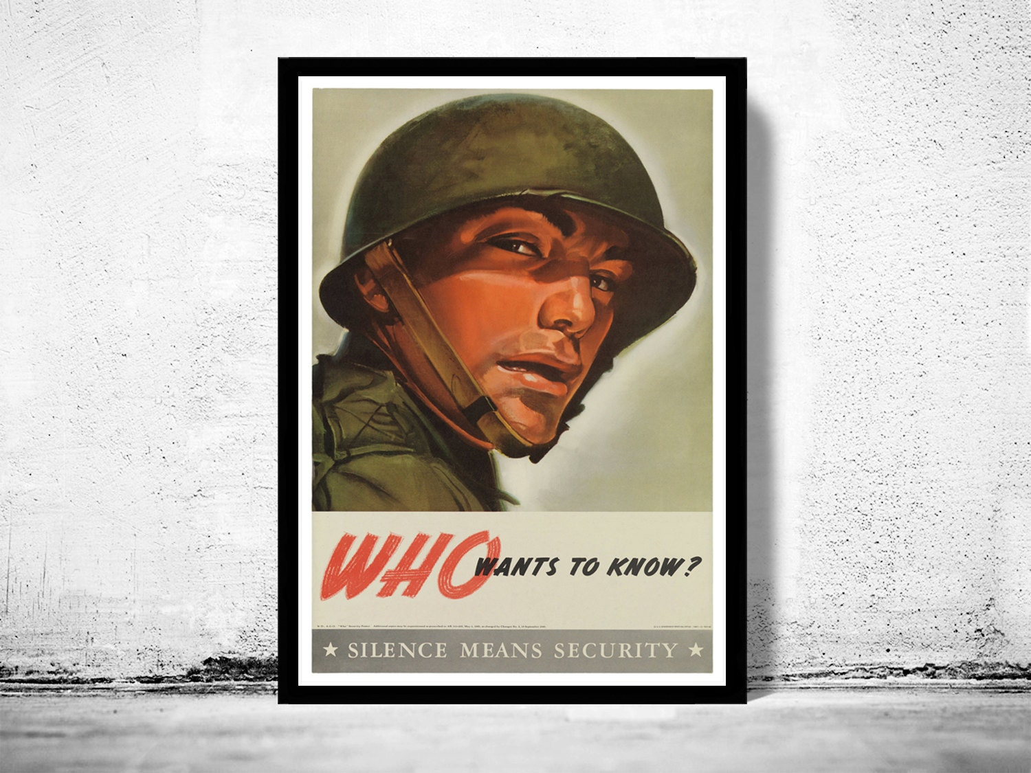 Vintage War Poster Who Wants To Know 1943