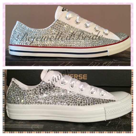 converse with some swarovski wedding shoes prom shoes
