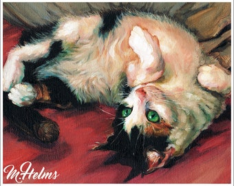 Print or Note Card: Calico Cat