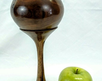 Handmade walnut wood goblet