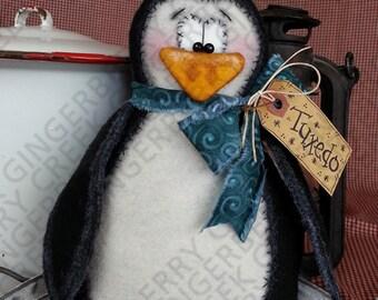 E-Pattern - Tuxedo the Penguin Pattern #105 - Primitive Doll E-Pattern