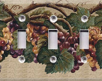 Grape Vines # 2 Triple Light Switch Cover