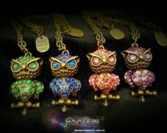 custom deluxe owl necklaces.
