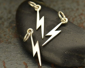Sterling Silver Tiny Lightning Bolt Charm