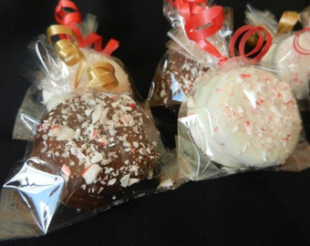 Double Stuffed Dark/White Chocolate Covered Oreos w/Crushed Candy Cane